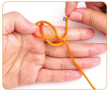 双线纽扣结编法图解(6) 涨姿势