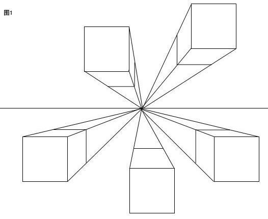 正方体一点透视图画法步骤