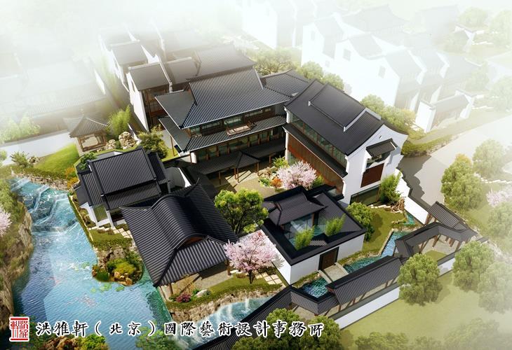 江南图纸中式别墅庭院设计清幽雅境妙蕴无穷层v图纸大全两别墅风格效果图及