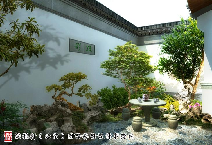 江南风格中式别墅庭院设计 清幽雅境妙蕴无穷