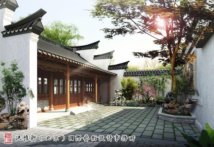 江南别墅中式别墅庭院设计清幽雅境妙蕴无穷风格美林湖榈庭v别墅图片