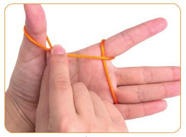 双线纽扣结编法图解(3) 涨姿势