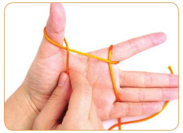 双线纽扣结编法图解(2) 涨姿势