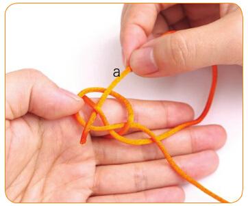 双线纽扣结编法图解(7) 涨姿势