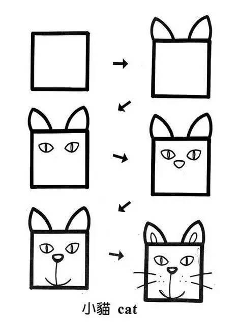 简单易学 让孩子照着画吧