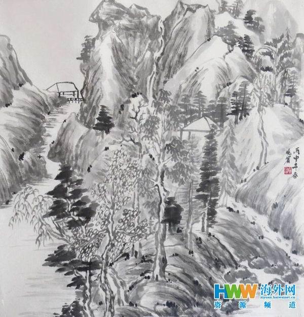 画家宋晓宾:痴迷丹青研山水 静水流深生丘壑图片