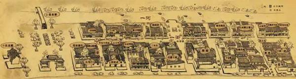 老街手绘地图