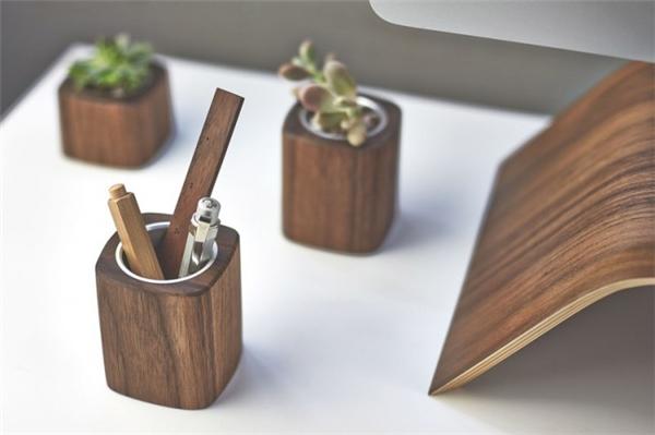 创意办公用品|木质系列桌面设计图片