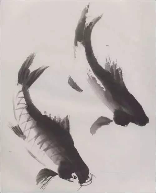 国画水墨画鱼-中国画 鱼的画法