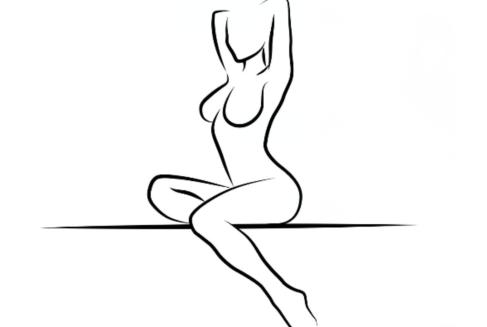 励志女人手绘图片