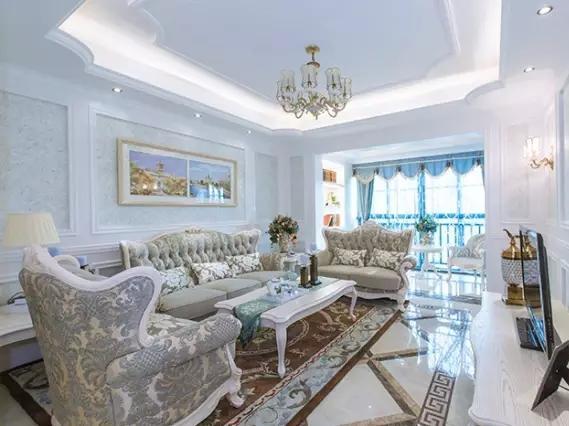 上海室内设计_126平米欧式简约风