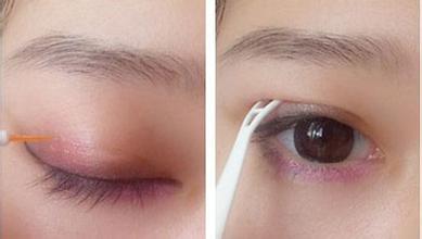 初学者单眼皮画眼线图片