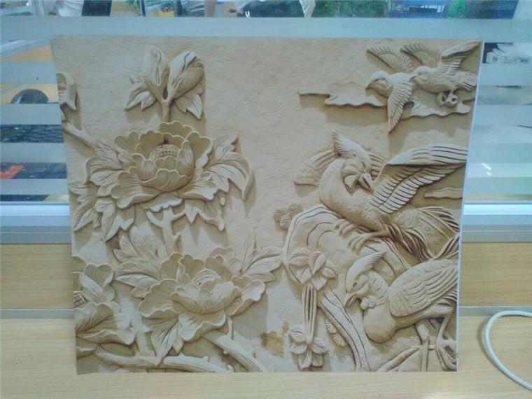 木雕何必雕刻再上色 仿木板雕刻打印机