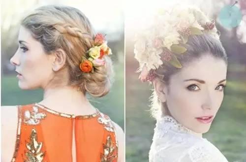 给头发加个花环,做个戴花的女子,可好?图片