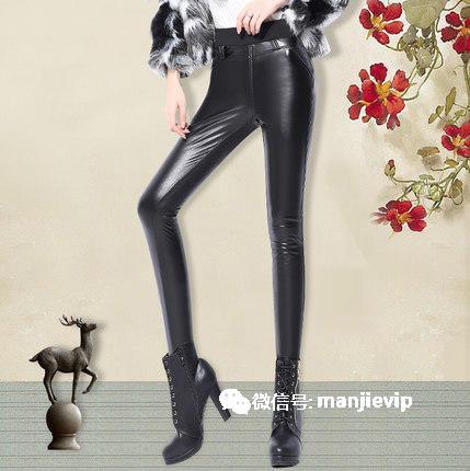 女人的紧身皮裤,性感大长腿魅惑的焦点