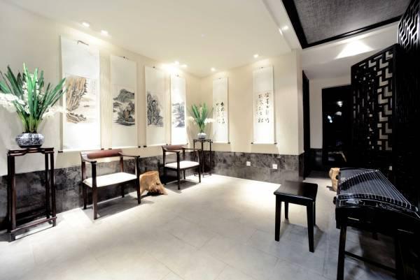 新古典中式风格:多以深色家具为主进行场景布置图片
