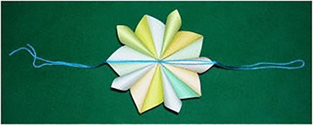 立体五瓣花球折纸图解教程图片