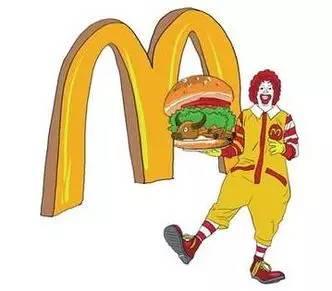 由麦当劳兄弟和ray kroc在50年代的美国开创的,以出售汉堡为主的连锁图片