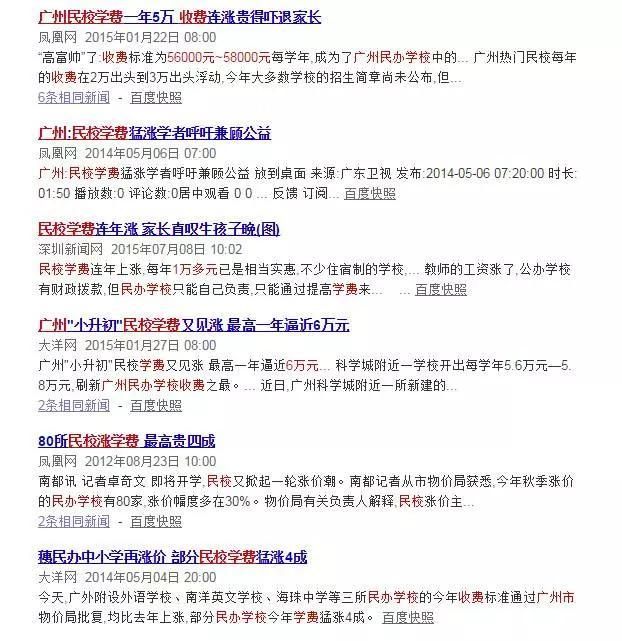 2016年广州适合学费初中大涨?-搜狐山东读职校的民办初中图片