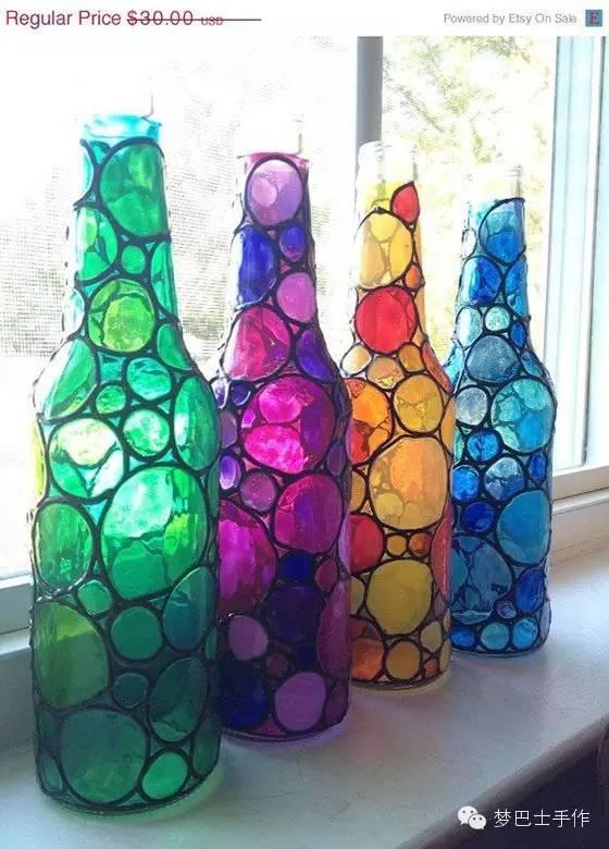 画玻璃瓶的颜料可以选择丙烯,玻璃颜料!