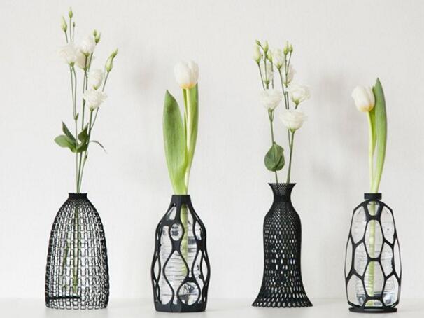 这些3d打印的花瓶能让矿泉水瓶重焕生机图片