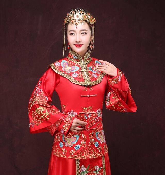 秀禾服新娘发型图片,尽显东方女性美感