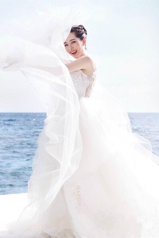 郭碧婷唯美婚纱摄影手机壁纸图片