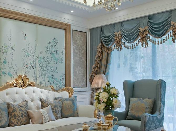 幸福时光|两室两厅的法式风格别墅装修