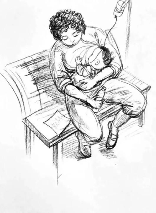 最能表达母爱的手绘图片
