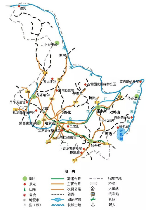 17.吉林旅游地图图片