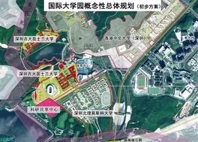 深圳高新园手绘地图