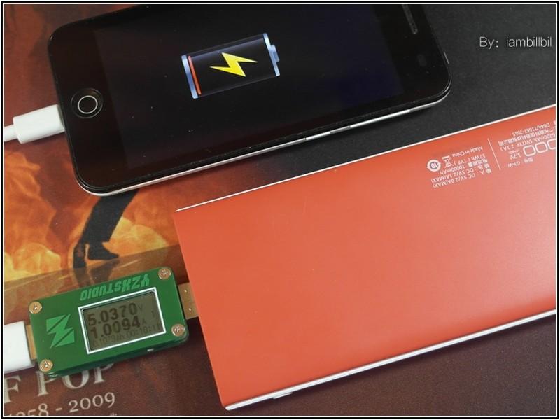 产品在1A输出模式下,输出平均电压5.01V,输出电量7024mah,输出能量35.16wh,输出效率95.02%,对比产品米万在1A下,输出平均电压4.99V,输出电量6799mah,输出能量33.93wh,输出效率93.60%。台电G3 10000mah移动电源可以为内置2000mah电量的苹果手机,充电3.5次的水平.