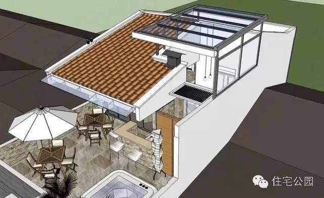 露台自建房6米X12米2层半带商标农村3d设计图英文文字车库怎样设计图图片