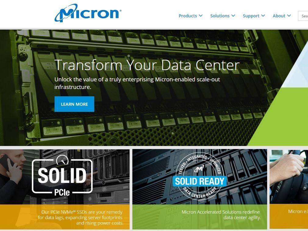 集成电路行业网站案例分享:micron官网