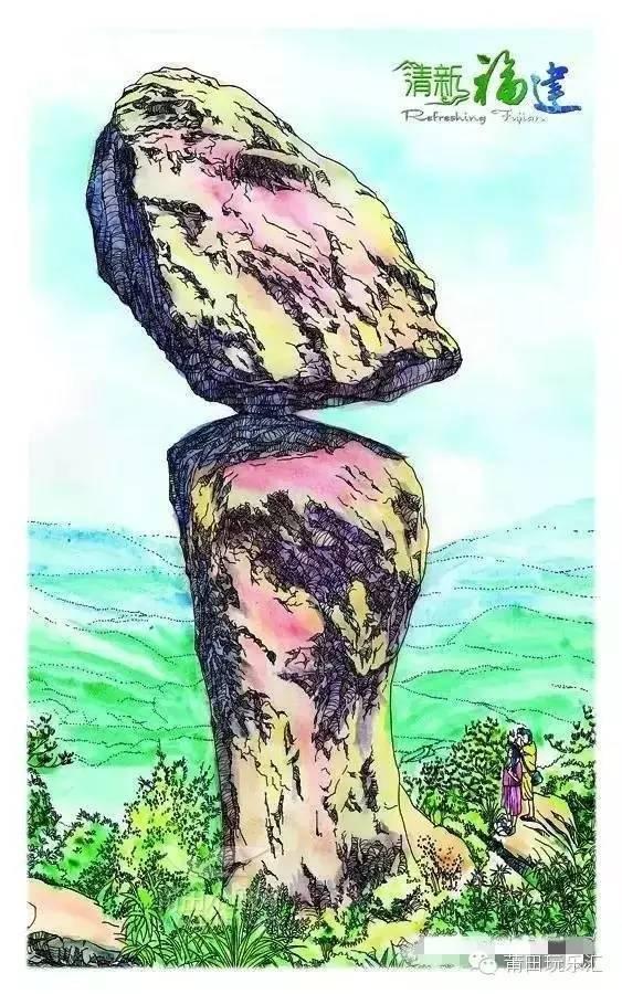 小鱼山公园手绘
