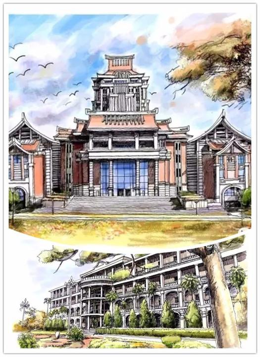 手绘版福建省内13所大学,你觉得哪家最美