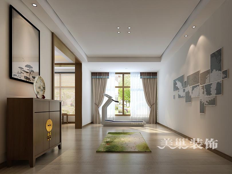 濮阳香榭里261平四室两厅新中式风格装修设计案例图——休闲区设计图片
