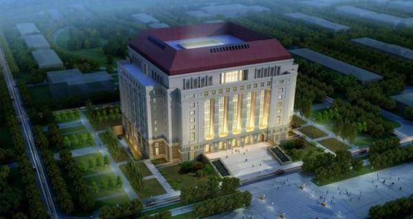 图书馆采用欧式古典建筑的构图形式