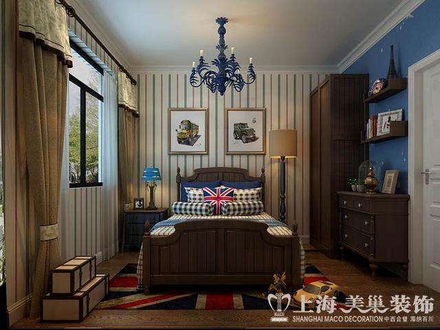 单元4室2厅140平米样板房新中式风格装修案列--卧室