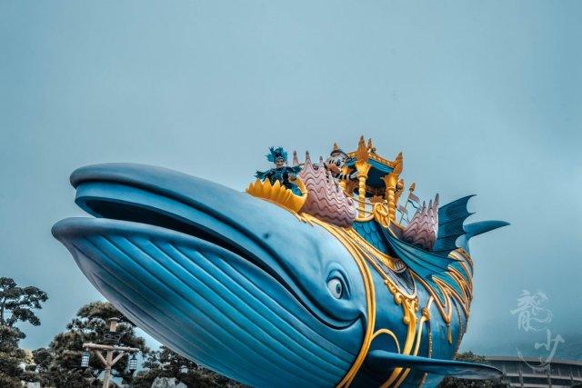 梦幻鲸鱼手绘图片