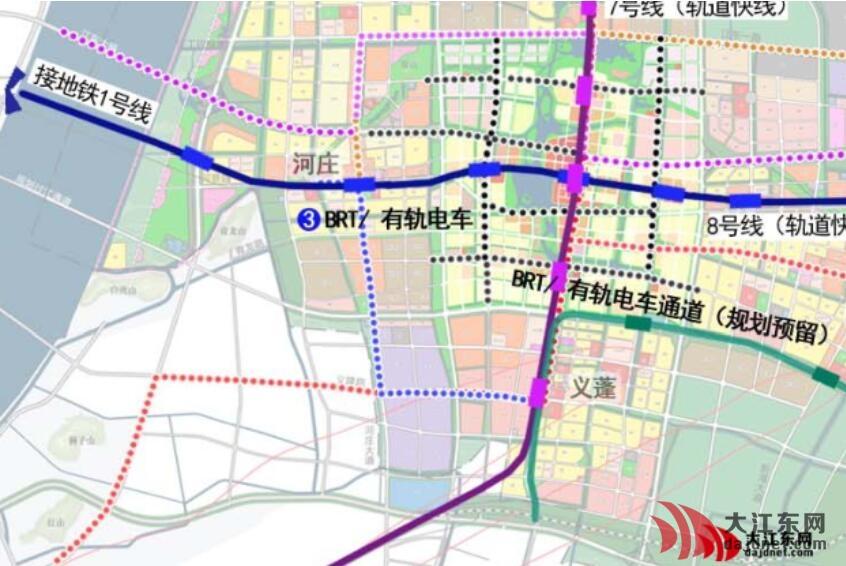 简析大江东地铁7号 8号线站点布置和受益方