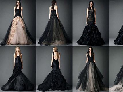 黑色婚纱,演绎另类时尚婚纱style