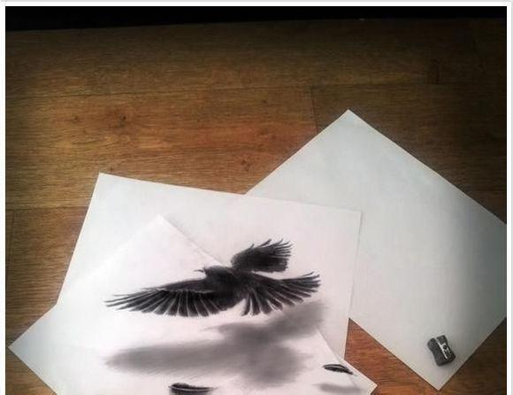 跃然a4纸—裸眼3d铅笔画