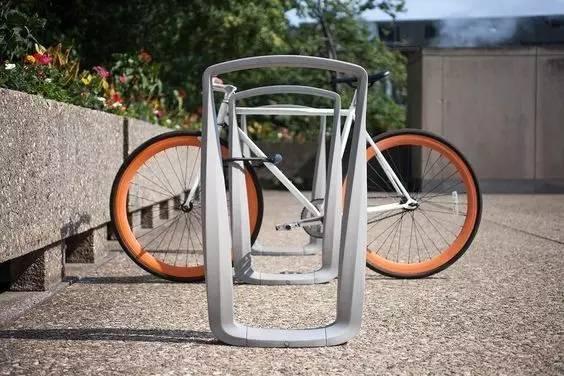 创意自行车停车位,有意思图片