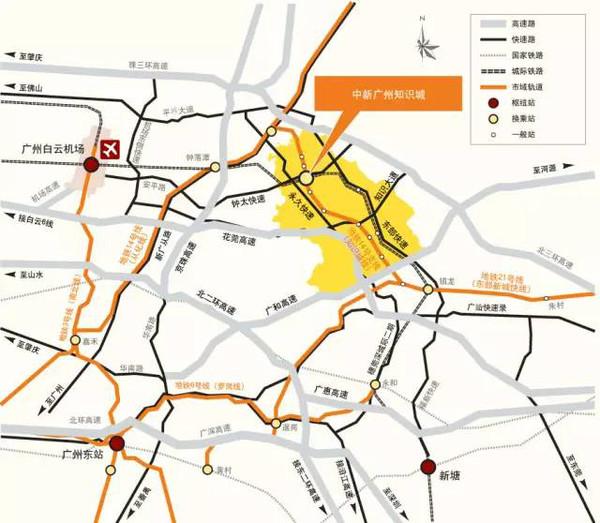 自2010年6月中新广州知识城正式奠基以来,地铁,主干路网,安置区,生态