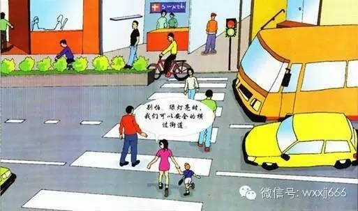 小学生交通安全教育图片