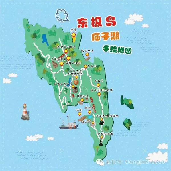 ?东极岛手绘地图