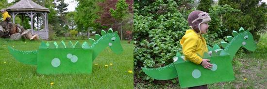 幼儿园纸箱做恐龙
