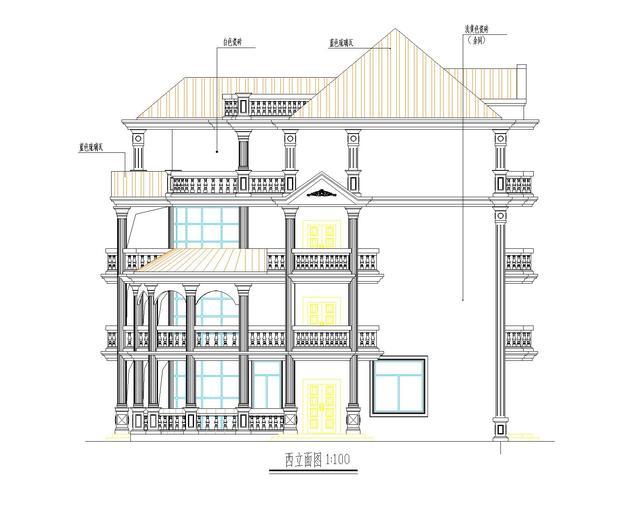 房子手绘立面图