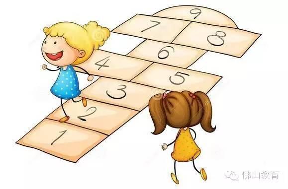 儿童拍球矢量图